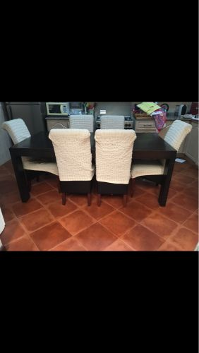 Dining table 6seats+buffet