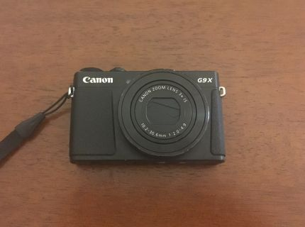 Canon and Lumix camera