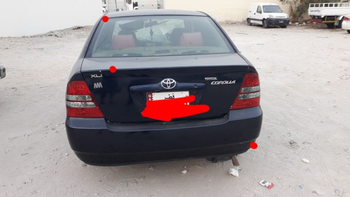 Corolla for sale accident 2004