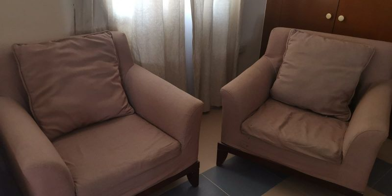 2 sofas singles for sale