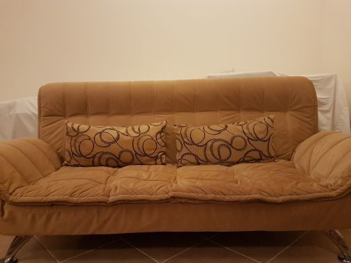 Sofa turned into bed