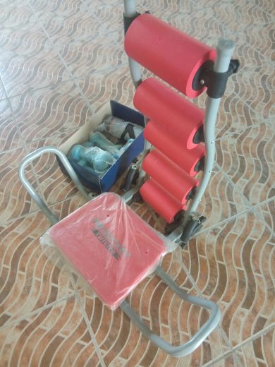 fitness/exercise chair with weights