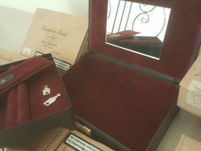 jewellery box and cigar boxes