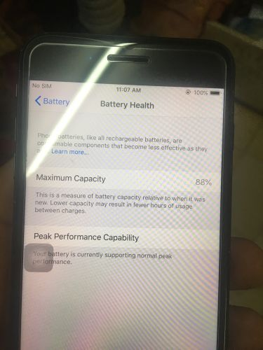 Iphone 7+ 128 GB with box charger