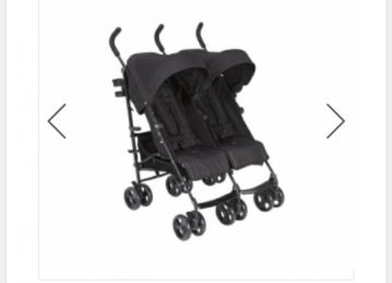 mamas and papas twins stroller for sale.