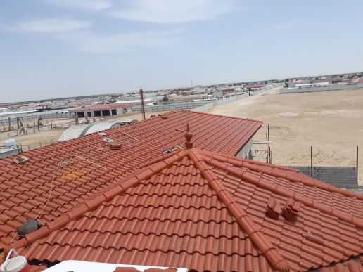 supply and fixing of roof tiles with ste
