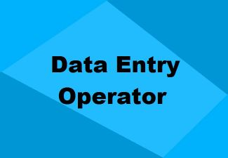 I'm looking for Data Entry Operator job