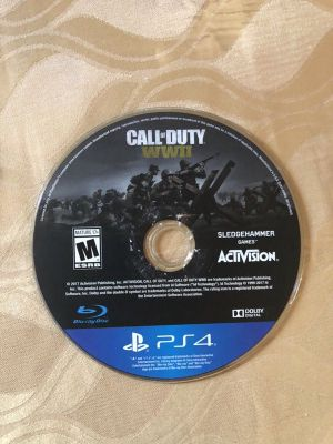 For sale ps4 ww2 cd