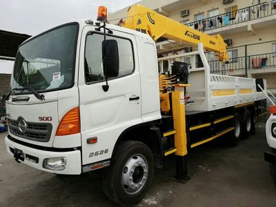 Boom truck for rent.