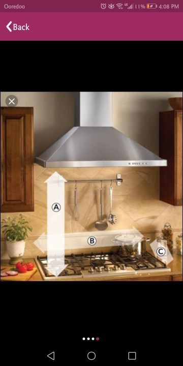 kitchen hood for restaurants and houses