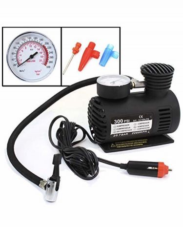 Air compressor with guage