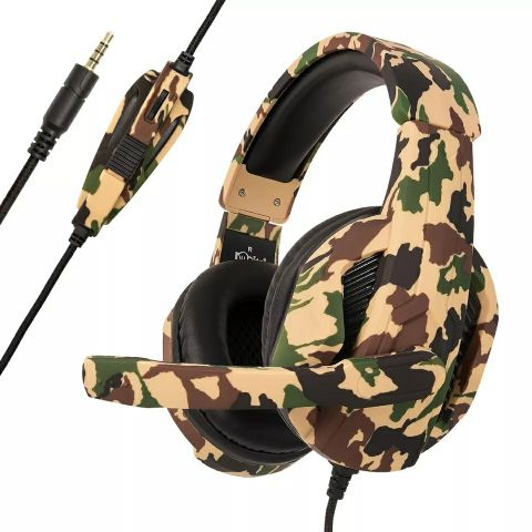 Camouflage Gaming Headset+mic