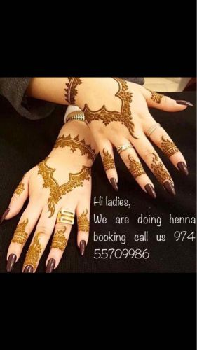We are doing henna booking