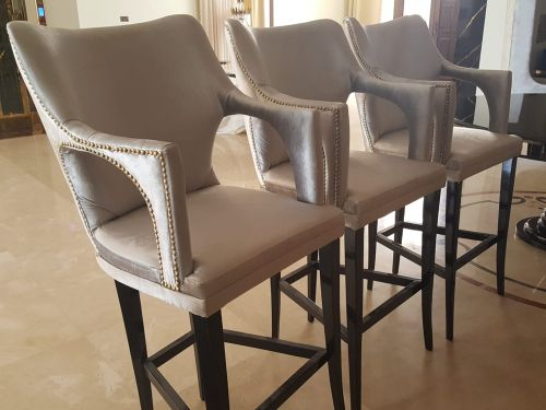 Three new bar chairs for sale