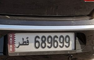 Plate Number 689 699