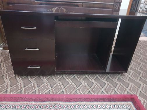computer and tv stand