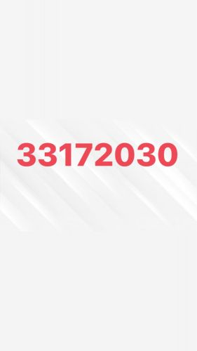Phone number for sale 33172030