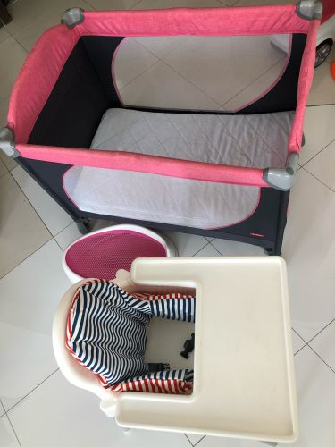 Baby bed with baby chair