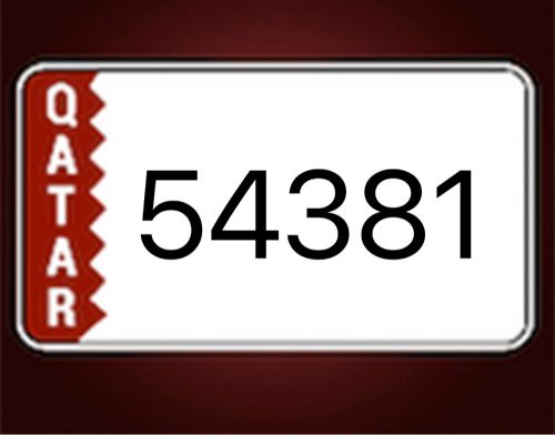 Unique 5 digit number - 3500QAR