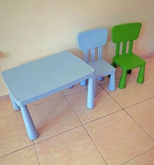2 chair + table