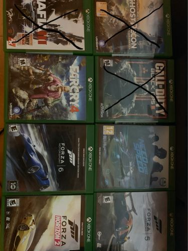 Games for xbox one 80 ryals each