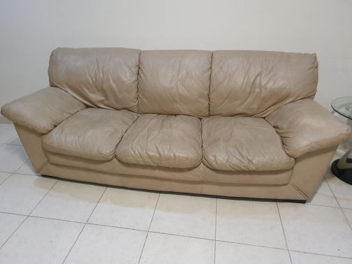 Sofa set leather 3+2 from home center