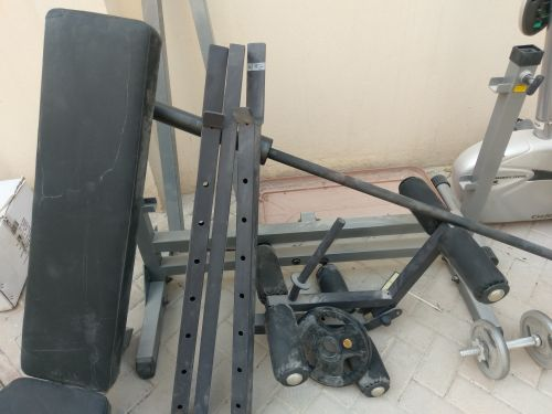 Gym equipment with weights