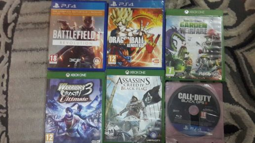 for sell 6 games ps4 and xbox