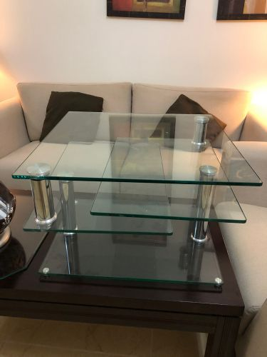 Movable glass table from the one