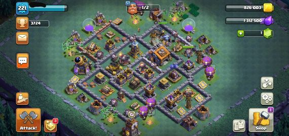 clash of clan maxed town hall 12