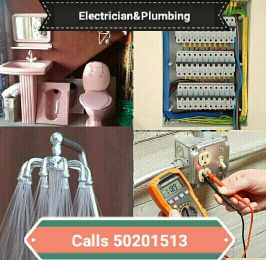 ELECTRICIAN AND PLUMBING