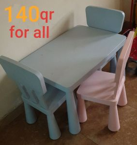 ikea children table with 3 chairs