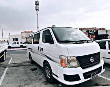 Nissan urvan bus for rent