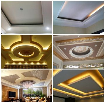 Gypsum board and paint work.
