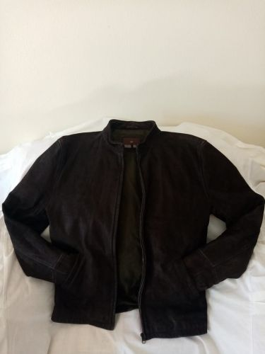 Leather and shamwah jacket sale
