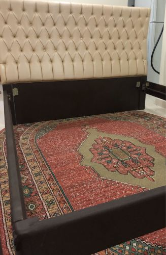 Bed without mattress