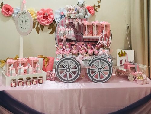Reception stand  for baby girl