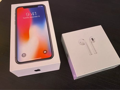 iPhone X 256GB Airpods 2 Extras
