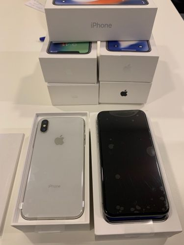 New open box iPhone X 64 color