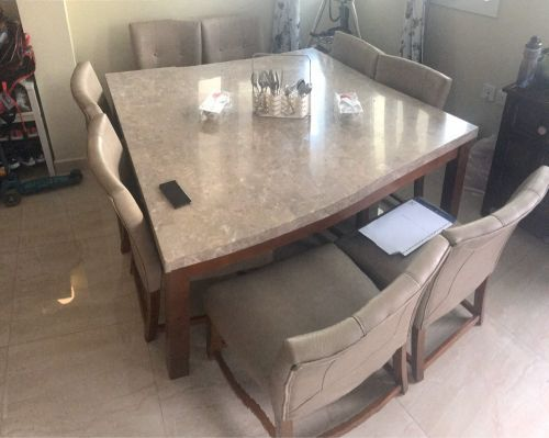 Dining 8 chairs table