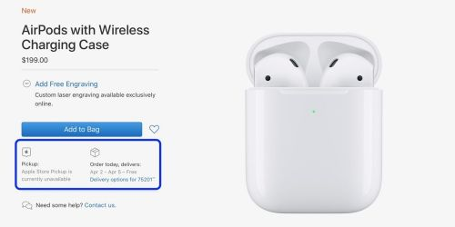 New AirPods 2 wireless charger