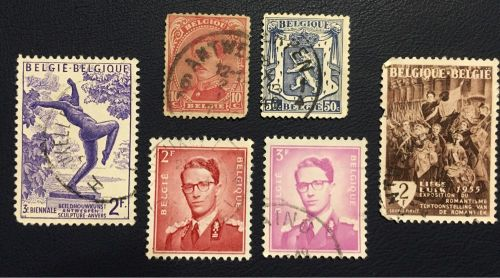 Rare Belgium post stamps