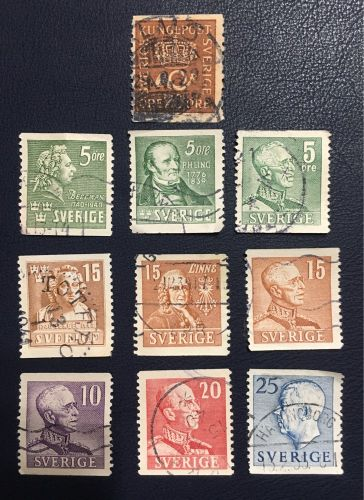 Rare Sweden post stamps