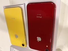 iPhone XR 128 yellow and red