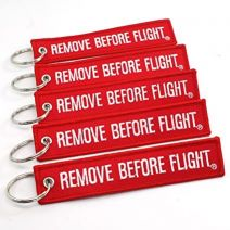 Remove before flight keychaij