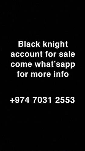 Black knight Account with skins