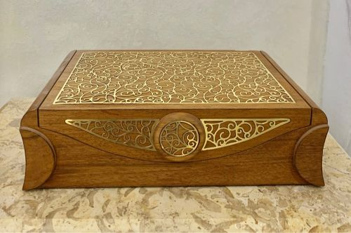 Large and Gold Wood Box