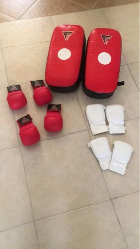 Boxing gloves & bag