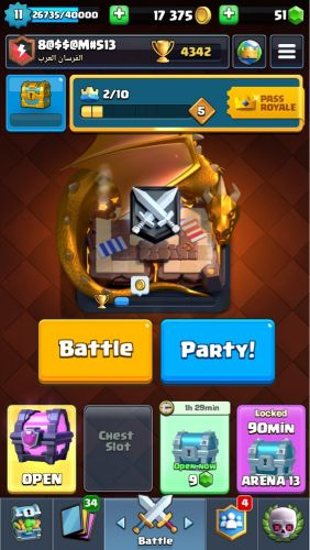 An account for clash Royal