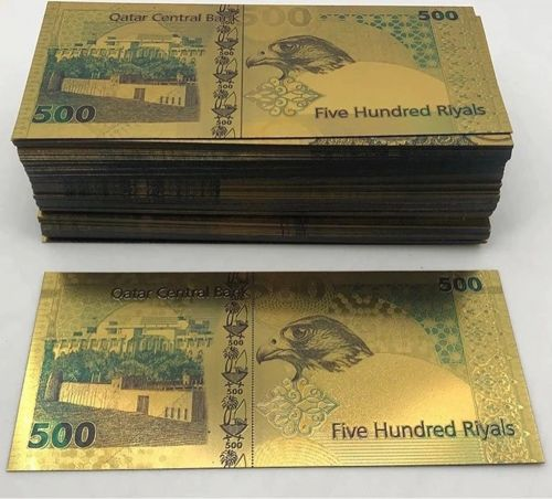 Gold plated 500 riyals COLORED
